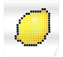 8 bit pixel lemon Poster