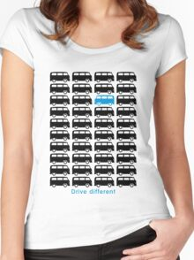 Drive different - Bus (black) Women's Fitted Scoop T-Shirt