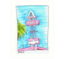 Motel Monterey Art Print