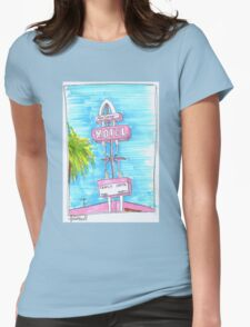 Motel Monterey Womens Fitted T-Shirt