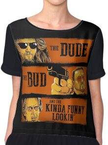 The Dude, the Bud and the Kinda Funny Lookin' Chiffon Top