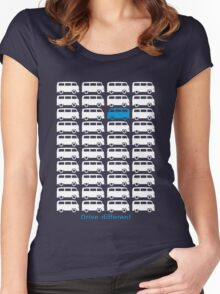 Drive different - Bus (white) Women's Fitted Scoop T-Shirt