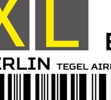 Destination Berlin Tegel Airport Sticker