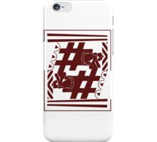 r nation graphic logo red iPhone Case/Skin