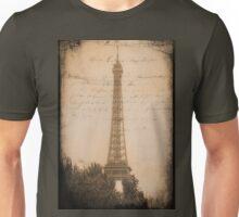 Eiffel Tower Postcard - Paris Unisex T-Shirt