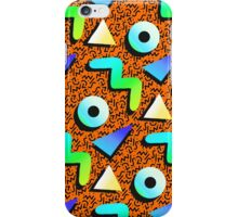 1980s Orange Print iPhone Case/Skin