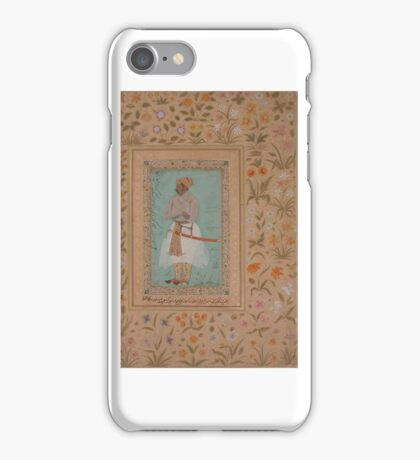Portrait of Maharaja Bhim Kanwar, Folio from the Shah Jahan Album , Painting by Nanha iPhone Case/Skin