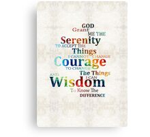 Colorful Serenity Prayer by Sharon Cummings Canvas Print