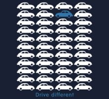 Drive different - Car (white) Kids Tee