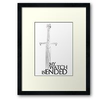 Game of Thrones - The end - white Framed Print