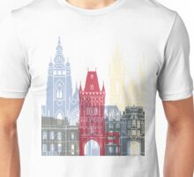 Prague skyline poster Unisex T-Shirt