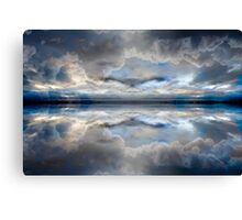 Stormy grey clouds Canvas Print