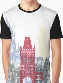 Prague skyline poster Graphic T-Shirt