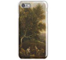 Probably a German painter from the 18th century Woodsmen on the Forest Edge iPhone Case/Skin