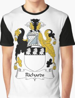 Richards Coat of Arms / Richards Family Crest Graphic T-Shirt