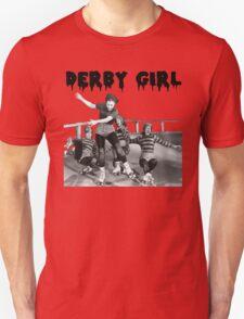 DERBY GIRL ROLLERSKATE VINTAGE ROLLERDERBY gerry murray T-Shirt