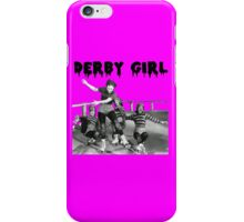 DERBY GIRL ROLLERSKATE VINTAGE ROLLERDERBY gerry murray iPhone Case/Skin