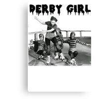 DERBY GIRL ROLLERSKATE VINTAGE ROLLERDERBY gerry murray Canvas Print