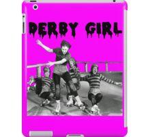 DERBY GIRL ROLLERSKATE VINTAGE ROLLERDERBY gerry murray iPad Case/Skin
