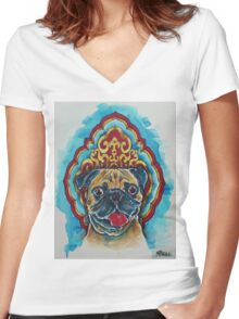 Puggy Wuggy Women's Fitted V-Neck T-Shirt