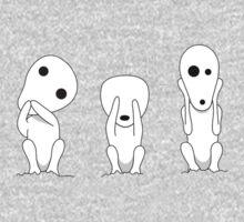Three wise kodamas One Piece - Short Sleeve