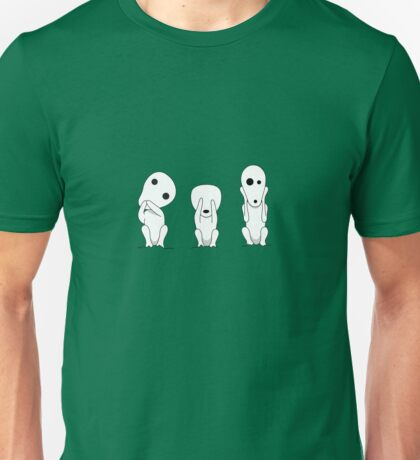 Three wise kodamas Unisex T-Shirt