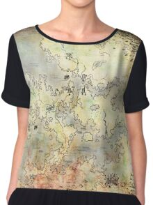 Fantasy Map Chiffon Top