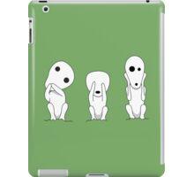 Three wise kodamas iPad Case/Skin