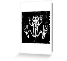 Tree Frog Skeleton - Museum Linocut Collection Greeting Card