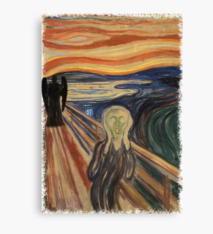 Doctor Who - Munch v2 Canvas Print