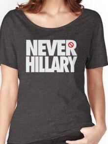 NEVER HILLARY - Alternate Women's Relaxed Fit T-Shirt