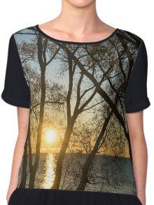 Golden Willow Sunrise Chiffon Top