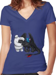 Ohana Women's Fitted V-Neck T-Shirt