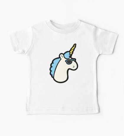 Unicorns Are Cool Pattern - Blue Baby Tee