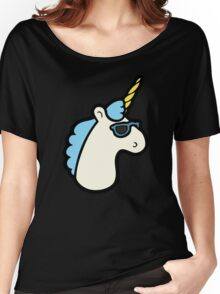Unicorns Are Cool Pattern - Blue Women's Relaxed Fit T-Shirt