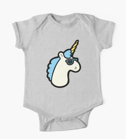 Unicorns Are Cool Pattern - Blue One Piece - Short Sleeve