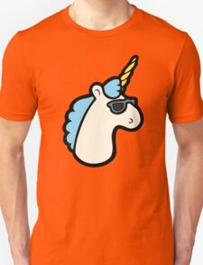 Unicorns Are Cool Pattern - Blue Unisex T-Shirt