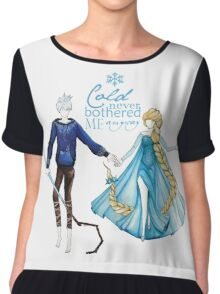 Cold never bothered me anyway (Jelsa) Chiffon Top