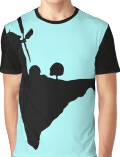 Flying windmill silhouette Graphic T-Shirt