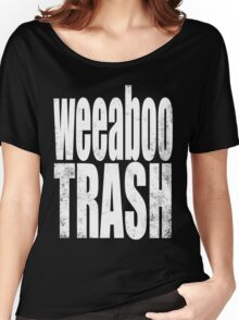 Weeaboo Trash (WHITE) Women's Relaxed Fit T-Shirt