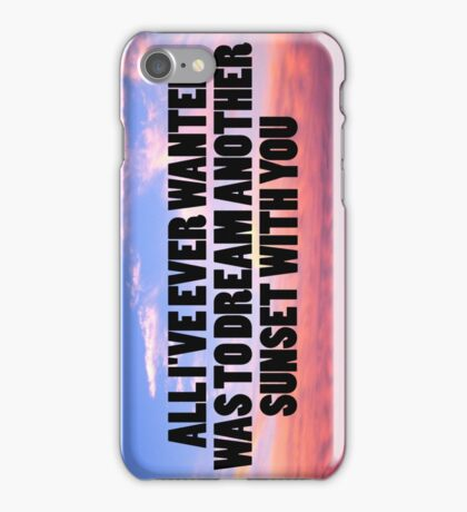 dream another sunset iPhone Case/Skin