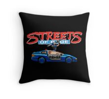STREETS OF RAGE POLICE SUPPORT  Throw Pillow