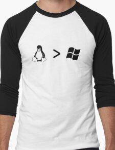 Linux/windows Men's Baseball ¾ T-Shirt