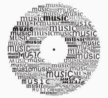 Typographic vinyl record One Piece - Short Sleeve