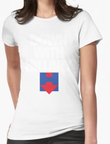 DOWN WITH HILLARY Womens Fitted T-Shirt