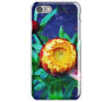Orange Flower and drops iPhone Case/Skin