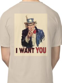 Americana, America, I Want You! Uncle Sam Wants You. Recruitment Poster, USA, Classic T-Shirt