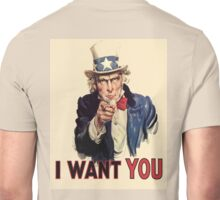 Americana, America, I Want You! Uncle Sam Wants You. Recruitment Poster, USA, Unisex T-Shirt