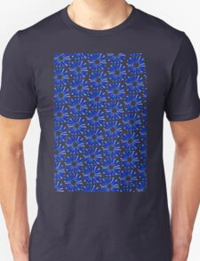 Graphic Flower Blue White Grey & Black 516B Unisex T-Shirt