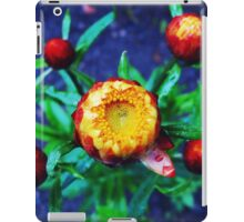 Orange Flower and drops iPad Case/Skin